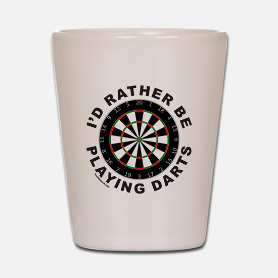 DARTBOARD/DARTS Shot Glass