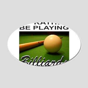 BILLIARDS/POOL 22x14 Oval Wall Peel