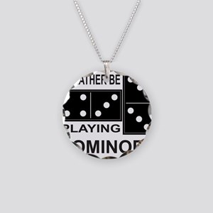 DOMINO Necklace Circle Charm