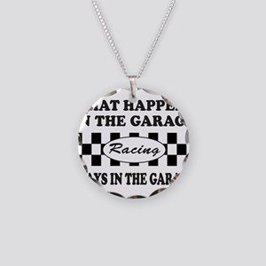 AUTO RACING Necklace Circle Charm