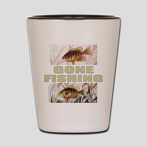 GONE FISHING Shot Glass