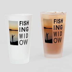 FISHING WIDOW Drinking Glass