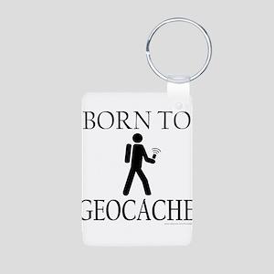 BORN TO GEOCACHE Aluminum Photo Keychain