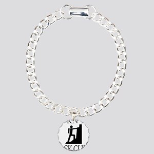 BORN TO ROCK CLIMB Charm Bracelet, One Charm