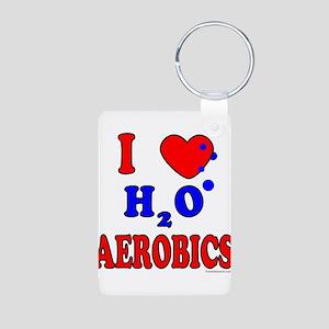 WATER AEROBICS Aluminum Photo Keychain