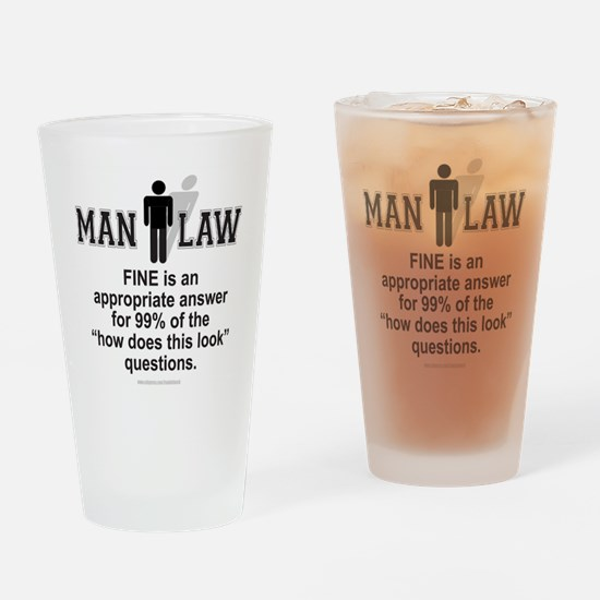 Men of law Drinking Glass