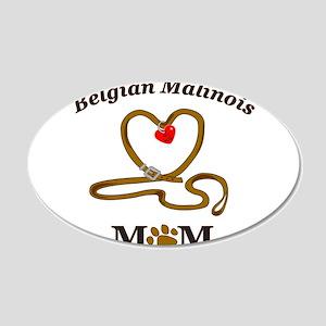 BELGIAN MALINOIS 22x14 Oval Wall Peel