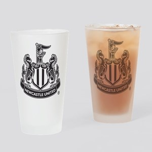 Newscastle United FC Crest Black Drinking Glass