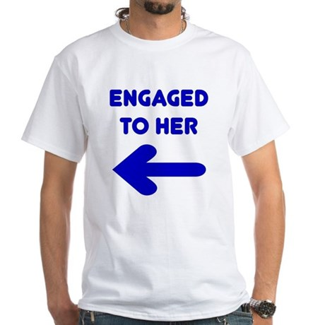 Engaged Arrow White T-Shirt (to size 4X)