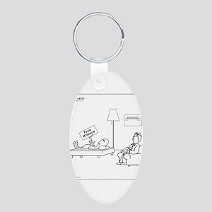 Alien: Free Kittens Aluminum Oval Keychain