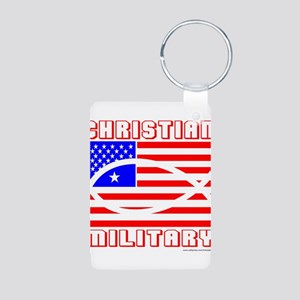 MILITARY Aluminum Photo Keychain