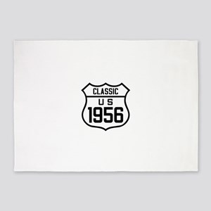 Classic US 1956 5'x7'Area Rug