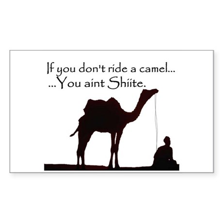 Shiite Camel - BLK - Sticker (Rectangle)