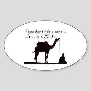 Shiite Camel - BLK - Sticker (Oval)