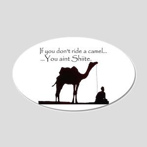 Shiite Camel - BLK - 22x14 Oval Wall Peel