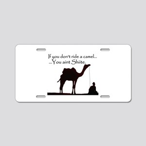 Shiite Camel - BLK - Aluminum License Plate