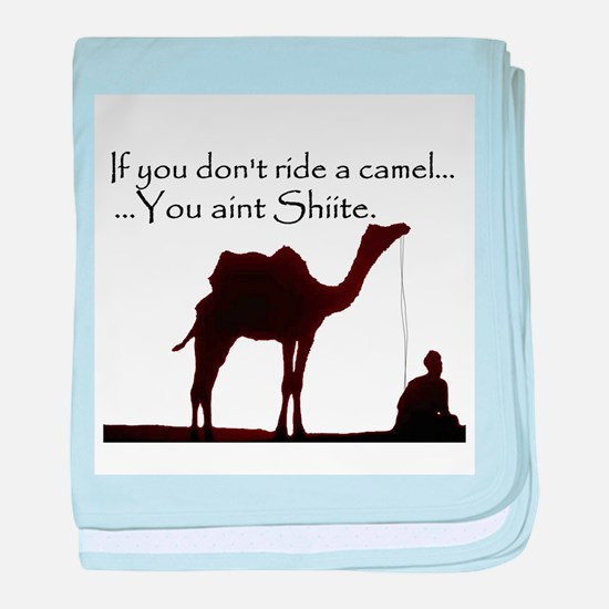 Shiite Camel - BLK - baby blanket