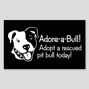 Adore-A-Bull 2! Rectangle Sticker