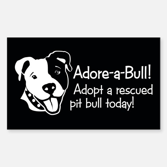 Adore-A-Bull 2! Rectangle Decal