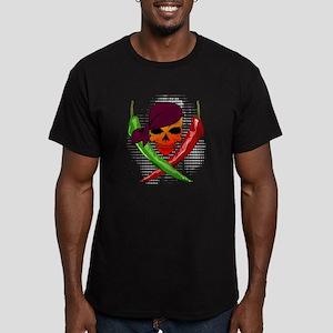 Pepper Pirate Men's Fitted T-Shirt (dark)