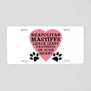 Neapolitan Mastiff Aluminum License Plate
