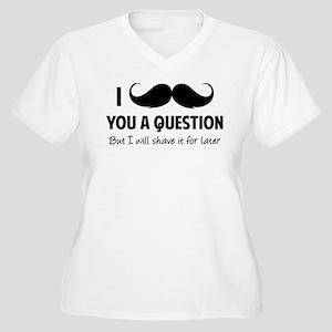 Moustache question Women's Plus Size V-Neck T-Shir