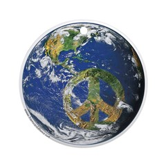 Peace On Earth Ornament (Round)