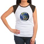 Peace On Earth Women's Cap Sleeve T-Shirt