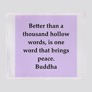 Buddha wisdom Throw Blanket