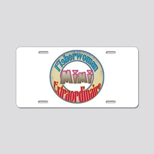 FISHERWOMAN MIMI Aluminum License Plate