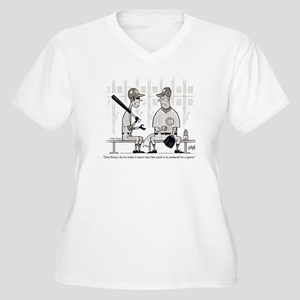 It's a Game Women's Plus Size V-Neck T-Shirt