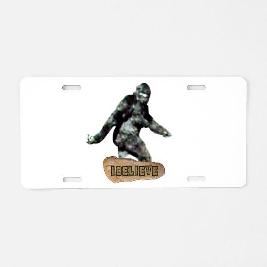 Bigfoot-I Believe Aluminum License Plate