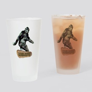 Bigfoot-I Believe Drinking Glass