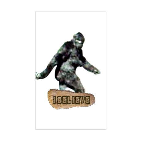 Bigfoot-I Believe Sticker (Rectangle)