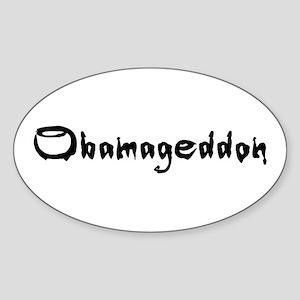 Obamageddon - Anti Obama 2012 Sticker (Oval)