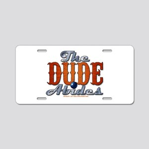 The Dude Abides Aluminum License Plate
