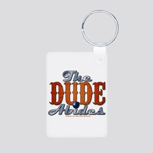 The Dude Abides Aluminum Photo Keychain