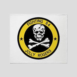 VF-84 Jolly Rogers Throw Blanket