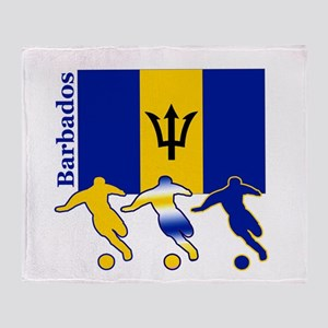 Barbados Soccer Throw Blanket