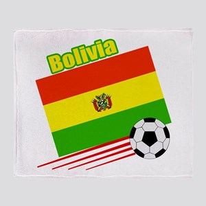Bolivia Soccer Team Throw Blanket