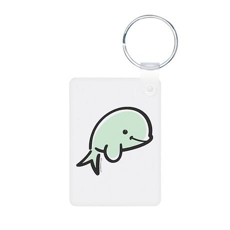 Cute Baby Beluga Aluminum Photo Keychain