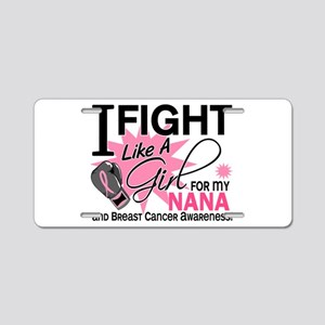 Fight Like A Girl Breast Cancer Aluminum License P