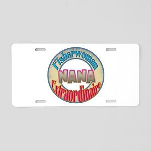 FISHERWOMAN NANA Aluminum License Plate