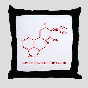 LSD Molecule Throw Pillow