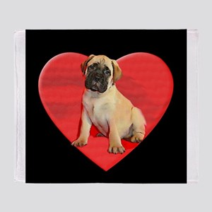 Bullmastiff puppy Throw Blanket
