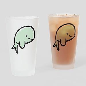 Cute Baby Beluga Drinking Glass