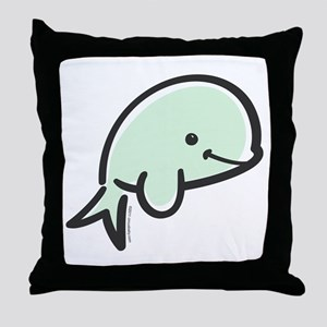 Cute Baby Beluga Throw Pillow