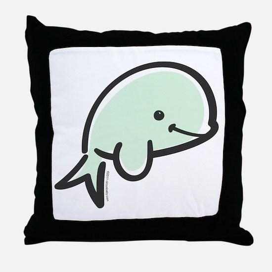 Cute Baby Beluga Throw Pillow