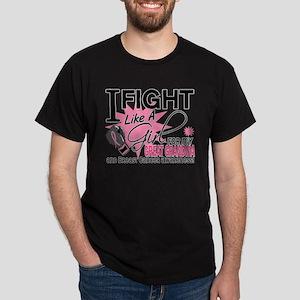 Fight Like A Girl Breast Cancer Dark T-Shirt