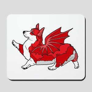 The Red Corgon - plain Mousepad